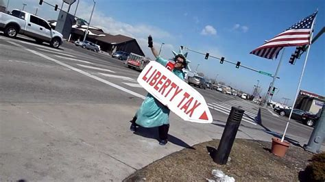 Amazing Sign Spinner! Liberty Tax Best Waver Contest ...