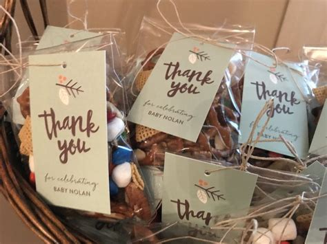 trail mix favors    tags  baby boy woodland themed shower matching minted