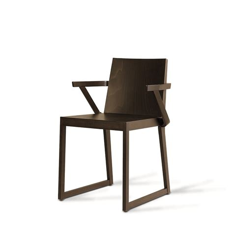 sd quentin b wooden chair with armrest vela stile