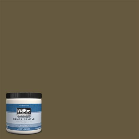 behr premium plus ultra 8 oz ppu7 1 moss interior exterior satin enamel paint sle