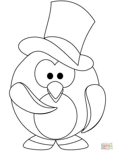 Pingwing Kleurplaat by The Gentleman Penguin Coloring Page Free Printable