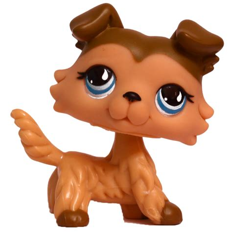 littlest pet shop singles collie  pet lps merch