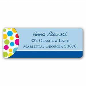 color dots return address labels paperstyle With colored return address labels