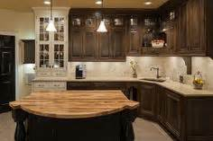 Kitchen Kraft Of Canada by Sherwin Williams Dorian Gray Cabinets And Urbane Bronze