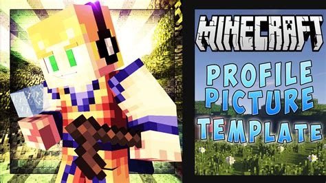 Free Minecraft Youtube Profile Picture Template Free