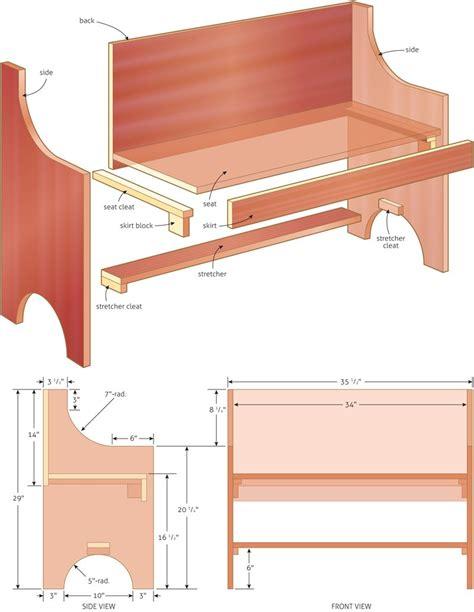 rustic  simple bench plan woodwork city diy
