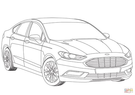 Ford Mondeo Mk V Coloring Page Free Printable Coloring Pages