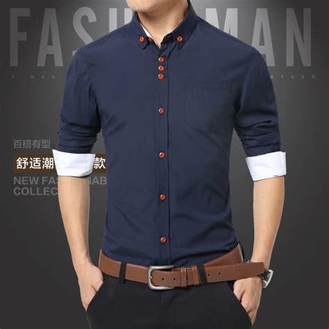 mens dress shirts cotton solid casual shirt lalbugcom
