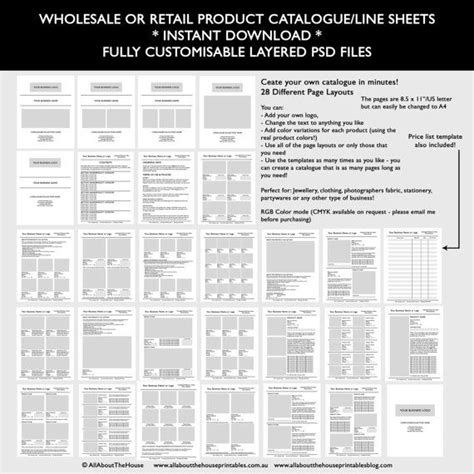 catalogue template wholesale retail pricing product