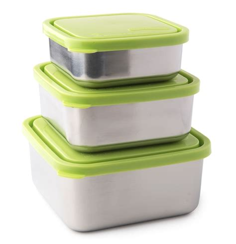 large kitchen trash u konserve stainless steel square nesting trio in lime