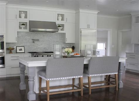 white kitchen with gray island white kitchen island with gray turned legs transitional 1835