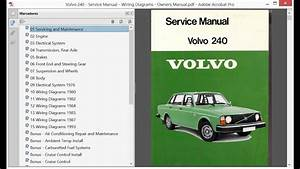 Volvo 240 - Service Manual - Wiring Diagrams