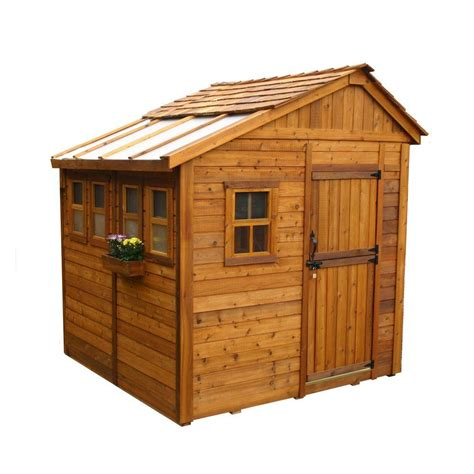 Home Depot Backyard Sheds by Outdoor Living Today Sunshed 8 Ft X 8 Ft Western