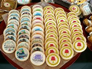 youcake printed desserts 15 in round mini custom With edible labels for cookies