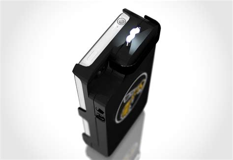 iphone taser yellow jacket smartphone converts your phone into a