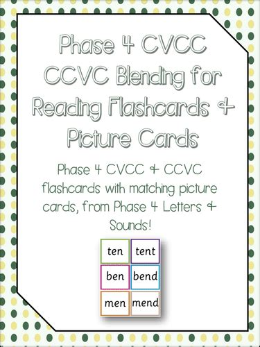 Phase 4 Blending Cvcc Words By Greye  Teaching Resources Tes