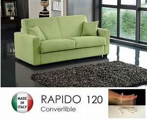 canape convertible rapido 120cm dreamer tissu microfibre With canapé cuir vert anis