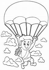 Coloring Parachute Pages sketch template