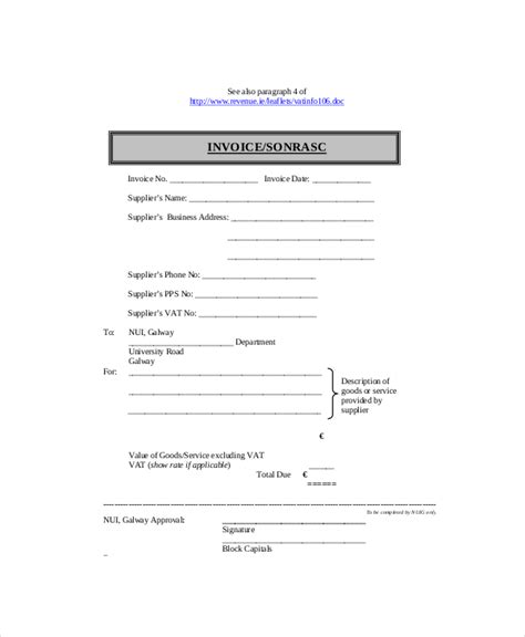 employed invoice template word invoice