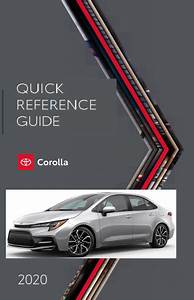 2020 Toyota Corolla Quick Reference Guide Free Download