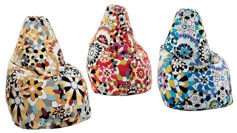 Scopri Pouf Sacco Missoni, Blu Di Zanotta, Made In Design