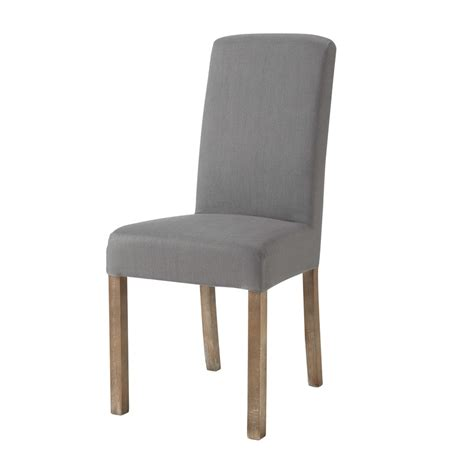 washed linen chair cover in grey margaux maisons du monde