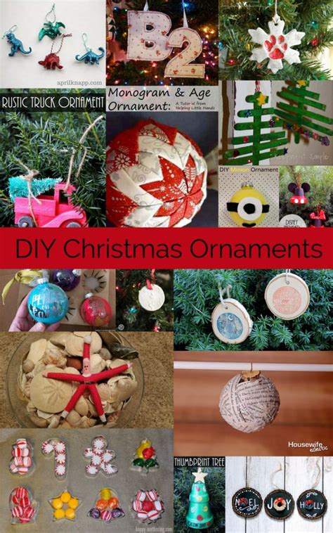 diy christmas ornaments mmm  block party keeping