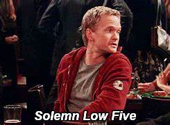 photoset gif gifs lily High Five how i met your mother ...