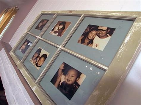 create  window frame photo collage hgtv