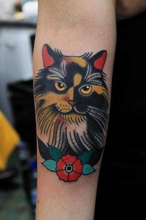 classy cat  tattoo design ideas