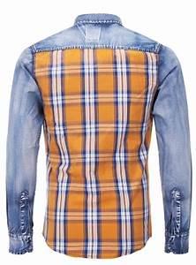 Chemise Homme A Carreau : chemise en jeans homme d lav carreau 6118 pour 51 90 ~ Melissatoandfro.com Idées de Décoration