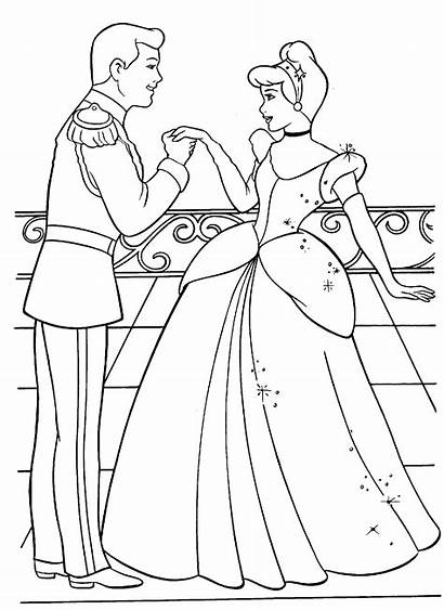 Coloring Cinderella Pages Sheets Printable Activity Ve