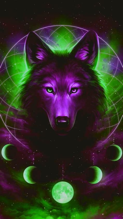 Galaxy Wolf Wallpaper by Galaxy Wolf Wallpaper By Lonewolf70123 4d