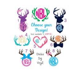 deer monogram vinyl decals choose your design by chicksdigvinyl on etsy https www etsy - Vinyl Designs