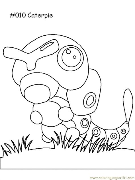 caterpie coloring page  pokemon coloring pages