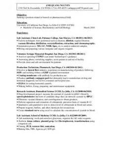 biology major resume template biologist sle resumes