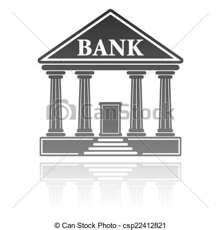 Banco Stock Concepto Financiero Ilustraci 243 N Vector Banco Edificio