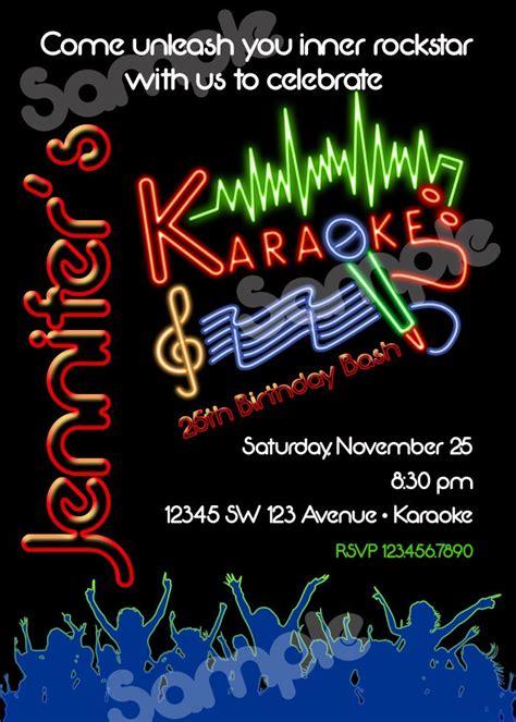 karaoke party invitation wording
