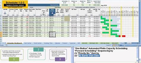 scheduler part    button finite capacity