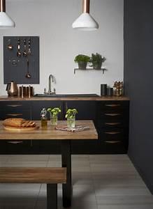 Deco Cuisine Bois : cuisine noire et bois un espace moderne et intrigant ~ Melissatoandfro.com Idées de Décoration