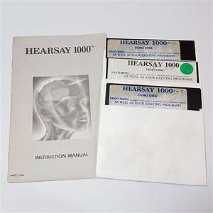 Hearsay 1000 Commodore 64 Disk 5 25 Diskette Demonstration