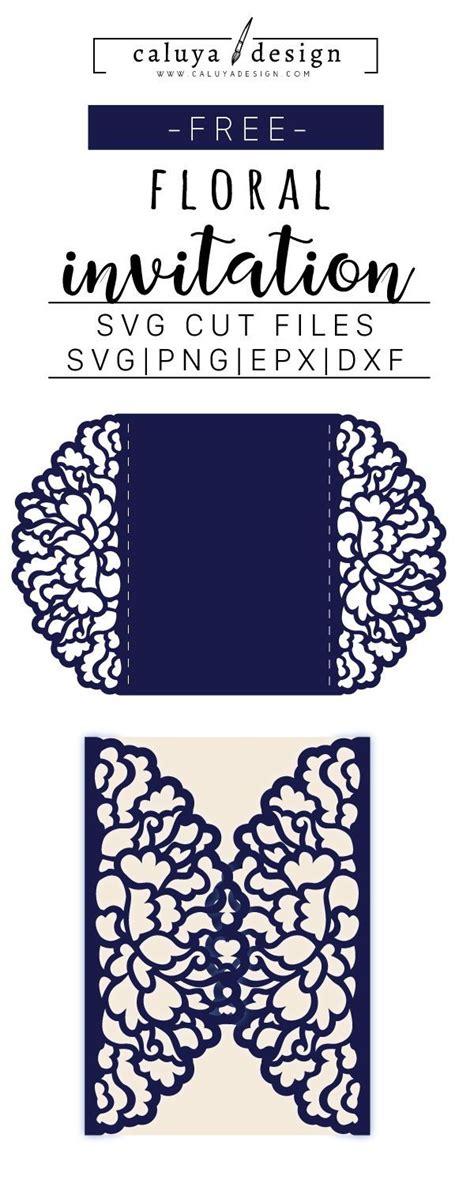 floral invitation svg dxf png eps