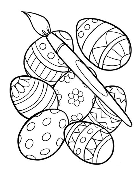 Coloring Easter Pages by Free Printable Easter Egg Coloring Pages For