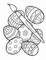 Easter Coloring Egg Pages Printable sketch template