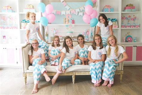 brynnes monogram slumber birthday party  balloon times party   dime charity challenge