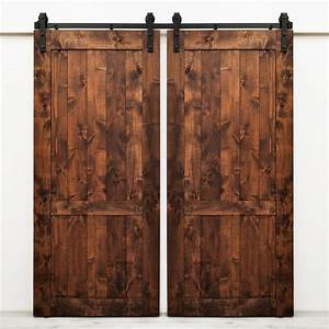 Shop dogberry collections country vintage stained knotty for Barnwood doors lowes