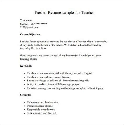 free pdf resume templates resume template for fresher 14 free word excel pdf