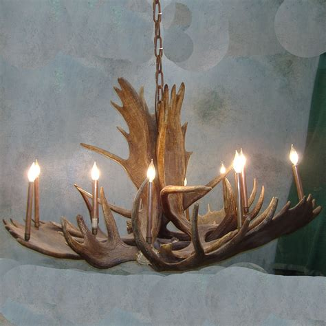 large pool table elk antler chandelier real photo