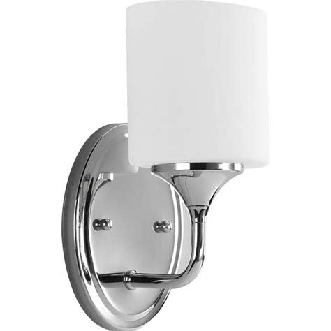 progress lighting lynzie 1 light chrome vanity fixture