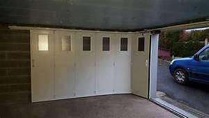 installation d39 une porte de garage coulissante laterale With installation porte garage